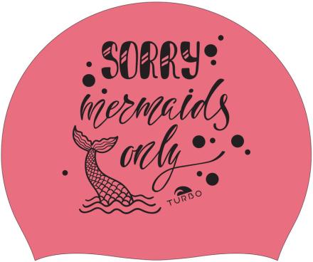 Turbo Sorry Mermaids Only Badehette Rosa 2019 Badehetter