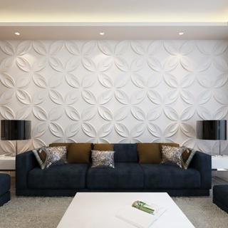 vidaXL Väggpanel 3D Blomma 66 st paneler 0,3 m x 0,3 m 6 m²