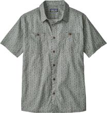 Patagonia Back Step Shirt Herr batik hex micro: hex grey 2018 S Kortärmade skjortor