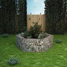 vidaXL Hexagonal planteringsgabion 160x140x50 cm