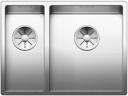 Blanco Claron 340/180-IF/N højre UXI Køkkenvask 58,5x44 cm m/InFino kurveventil, Rustfrit stål