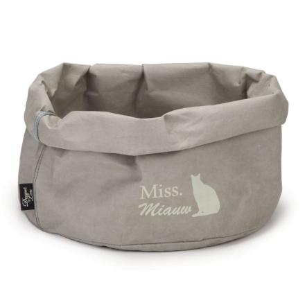 "Designed by Lotte kattekurv ""Miss Miauw"" papir 40 cm grå 707050"
