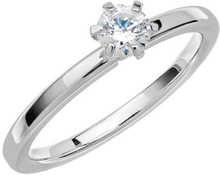 Schalins Vigselring Love 01 18k Vitguld 0,35 Ct Diamant
