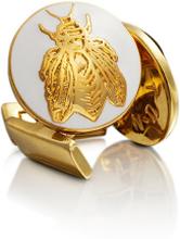 Skultuna Manschettknappar Napoleon Bee Guld Ivory White