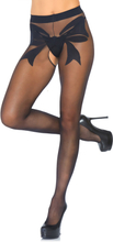 Leg Avenue: Woven Bow Sheer Backseam Crotchless Pantyhose, One Size