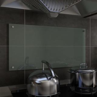 vidaXL Kjøkkenplate hvit 80x40 cm herdet glass
