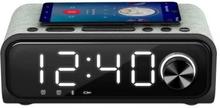 Klockradio med trådlös laddare Energy Sistem Speaker 4 Bluetooth 5.0 10W Svart Silvrig