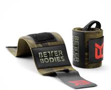 Better Bodies BB Camo Wrist Wraps, dark green camo, Better Bodies Knä & Handledslindor unisex