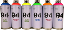UV spraypaint 6 x 400 ml.