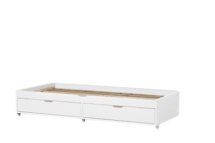 Deluxe Pull-Out Bed 90X190, Hoppekids - W/ Slats+Drawers - White