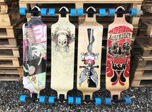 Kvalitets Longboard (4 forskellige print)