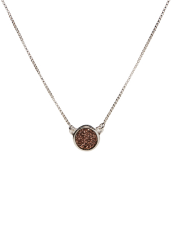 Frances Druzy Necklace Silver Rose