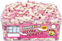 600 stk Sweetzone Little Teeth - Boks med Små Vingummi Tenner