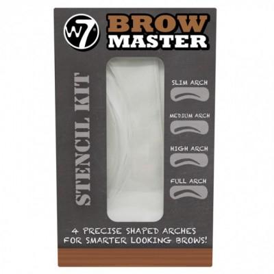 W7 Brow Master Stencil Kit 4 stk