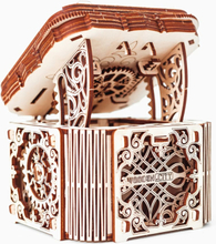 WOODEN CITY Eco-Wood-Art Byggmodell i trä hemlig låda
