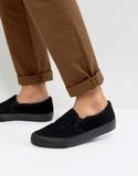 ASOS Slip On Plimsolls In Black Cord With Black So