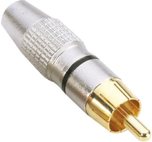 RCA Phono Connector Aluminium Gold Svart