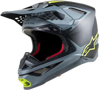 Alpinestars Supertech S-M10 Meta Motocross hjälm Svart Gul S