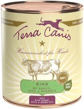 Terra Canis 6 x 800 g - Rind mit Karotte, Apfel & Naturreis