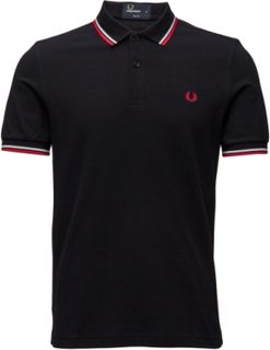 Twin Tipped Fp Shirt Polos Short-sleeved Blå Fred Perry