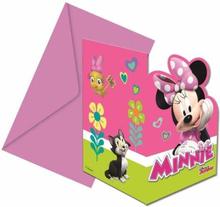 Minnie Mus Party Invitasjoner - 6 stk