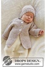 Sleep Tight by DROPS Design - Babyjacka med raglan Stick-mönster strl.