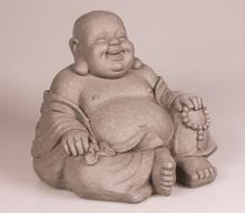Stone-Lite Happy Buddha Garden Statue - F