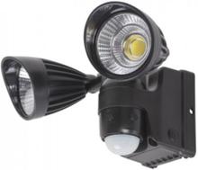 LED-armatur m. rörelsevakt BATTERI (Svart)