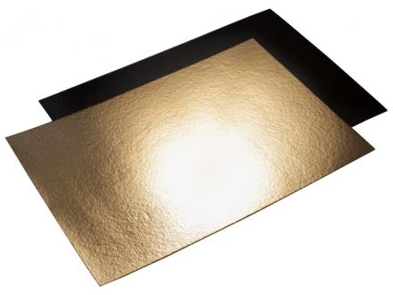 Kagepap guld/sort 40x58cm kraftig 25stk/pak