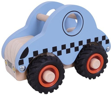 Houten Taxi rubberen wielen