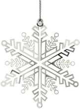 Julhänge Snöflinga 7,5 cm Silver
