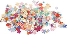 Pailletter, diam. 5-20 mm, ca. 390 stk., blomster, 10g