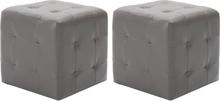 vidaXL Sängbord 2 st grå 30x30x30 cm konstläder