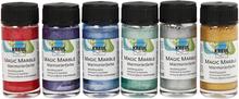 Magic Marble Marmoreringsmaling, metallicfarver, 6x20ml