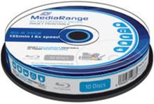 MediaRange BD-R 6x 25GB inkjet full-surface printable spindl