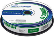 MediaRange DVD-RW 4x 4,7GB rewritable spindle (10)