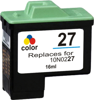 Lexmark 27 (10N0227) 3-farve kompatibel blækpatron (10 ml)