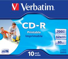 CD-R AZO, 52X, Wide Printable (10)