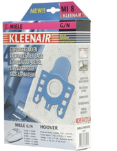 KLEENAIR MI8 støvsugerpose til Miele G/N mfl., 4 stk. + 1 filter