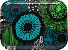 Pieni Siirtolapuutarha bricka 20x27 cm Grön-blå-svart-vit