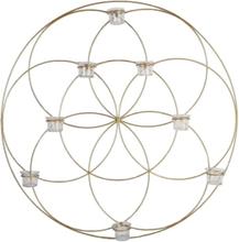 FINTINNE Väggljusstake Cirkel guld 80 cm lampett