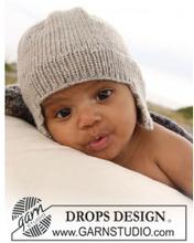 Samuel Mössa by DROPS Design - Baby Mössa Stick-mönster strl. 1/3 mdr