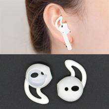 Silikon Earhooks Apple AirPods Valkoinen