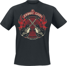 Johnny Cash - Crossed Guitars -T-skjorte - svart