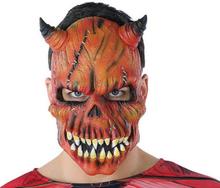 Mask Halloween Demon Skelett Röd (21 X 25 cm)