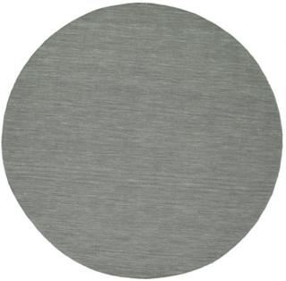 Kelim loom - Mørk grå teppe Ø 250 Moderne, Rund Teppe