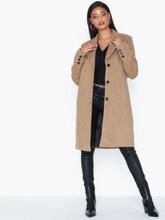 Selected Femme Slfsasja Wool Coat B Noos Frakker Beige