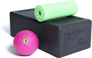 Blackroll Block Set Black/Green/Pink