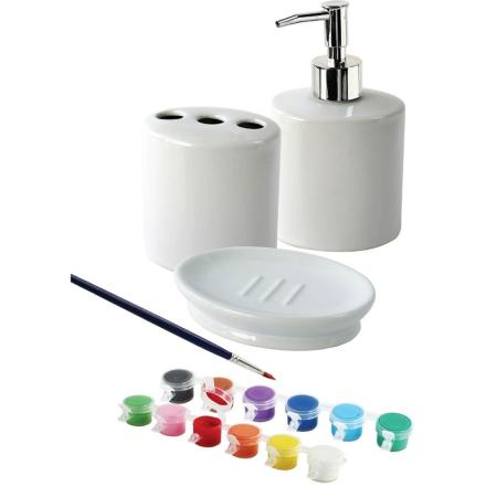 Oliver & KidsMal badeeromssett i porselen, 3 deler