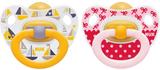 NUKNapp, Happy Kids, Strl 2, Latex, 2-pack, Röd/gu